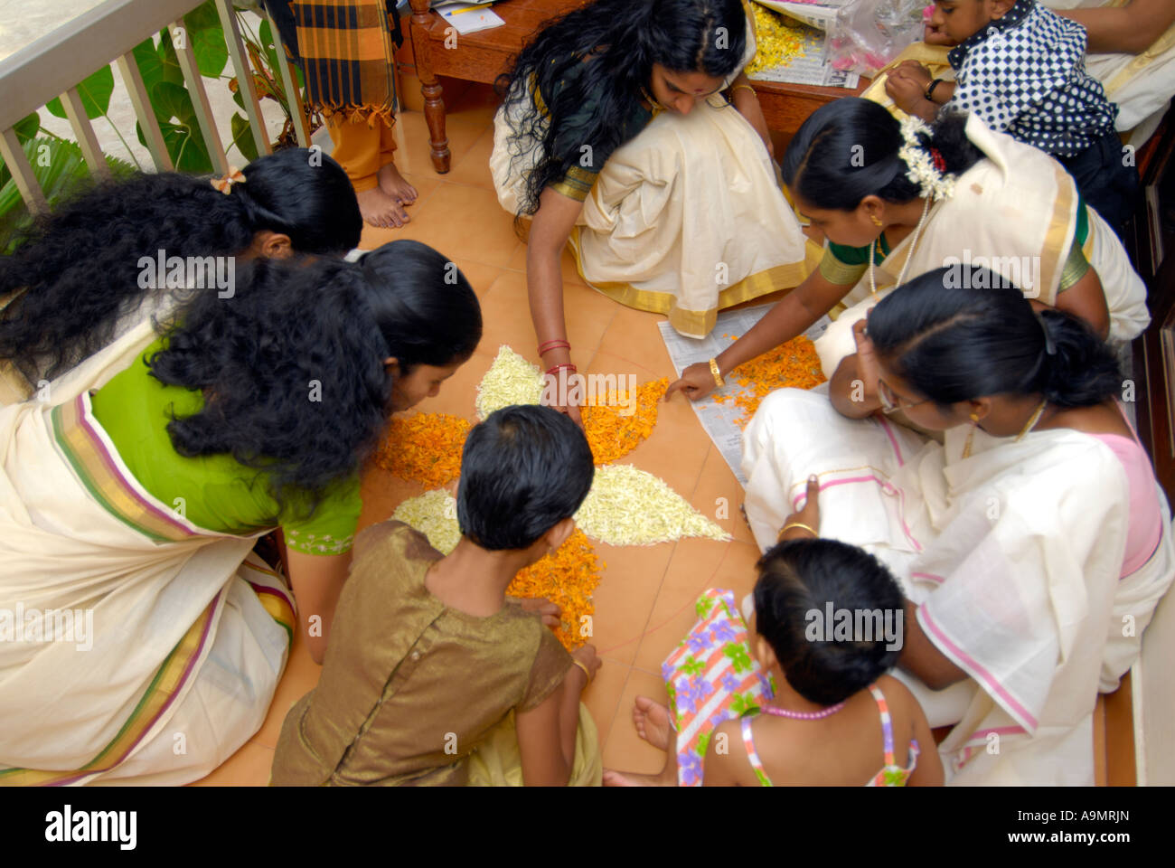 ONAM CELEBRATIONS IN KERALA - Stock Image