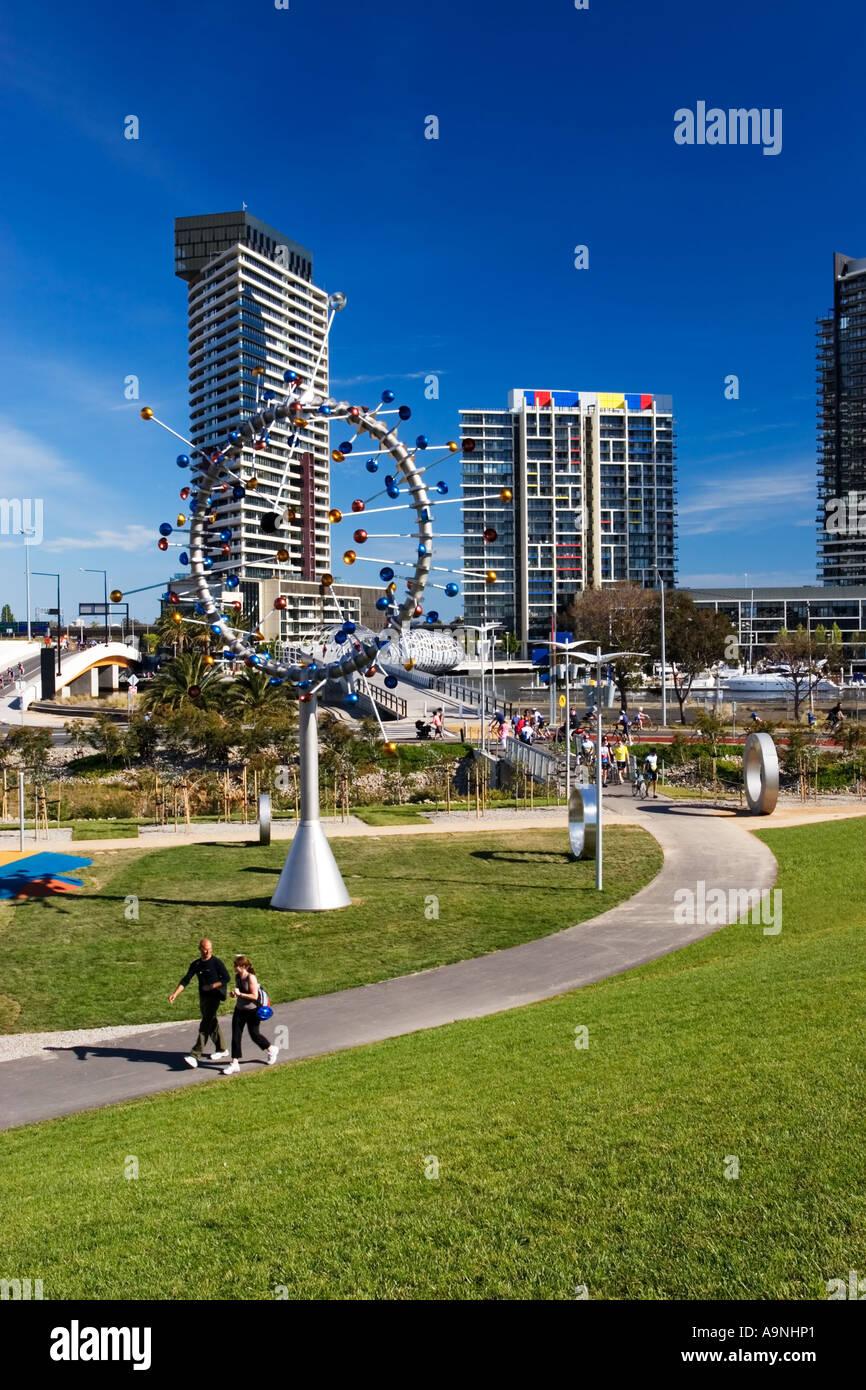 Melbourne Docklands / location Melbourne Victoria Australia - Stock Image