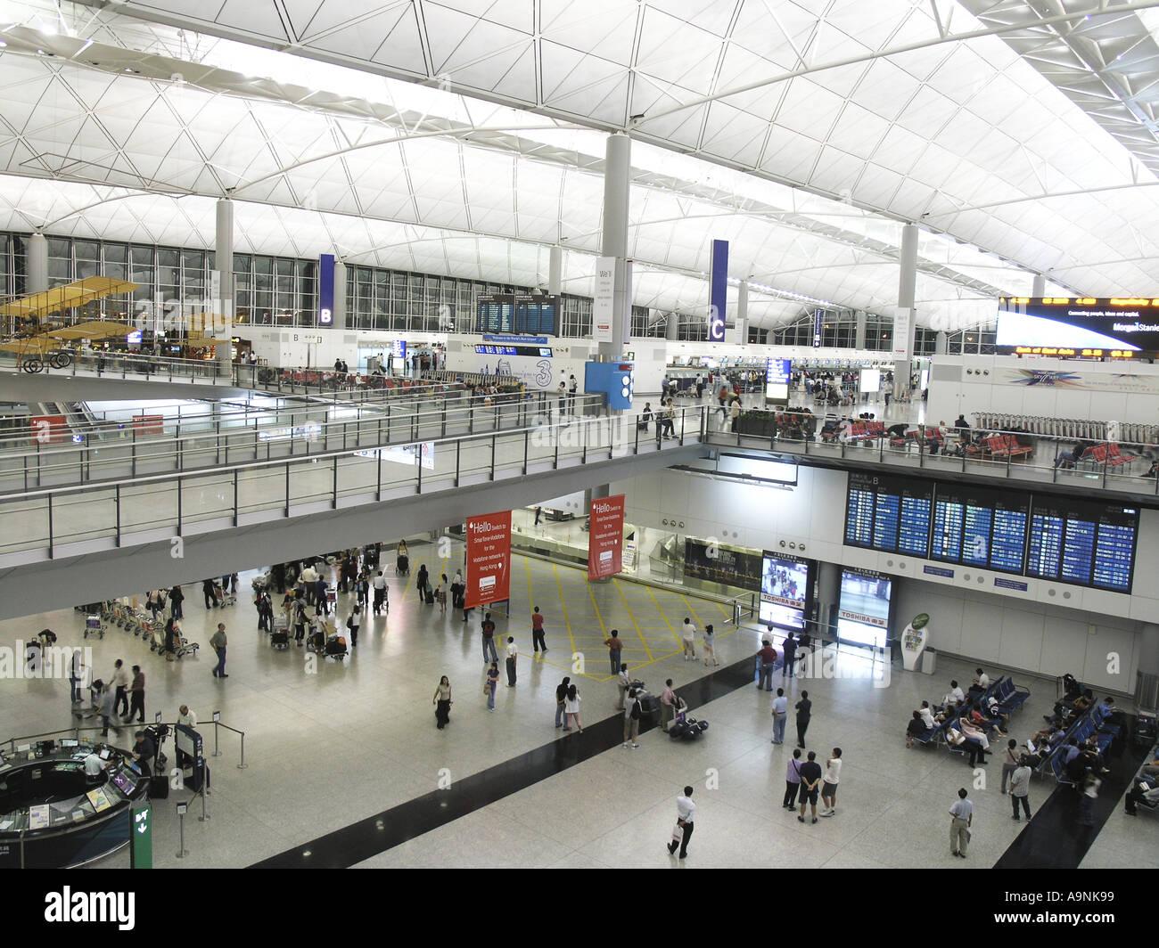Hong Kong International Airport Chek Lap Kok hongkong HKG china - Stock Image