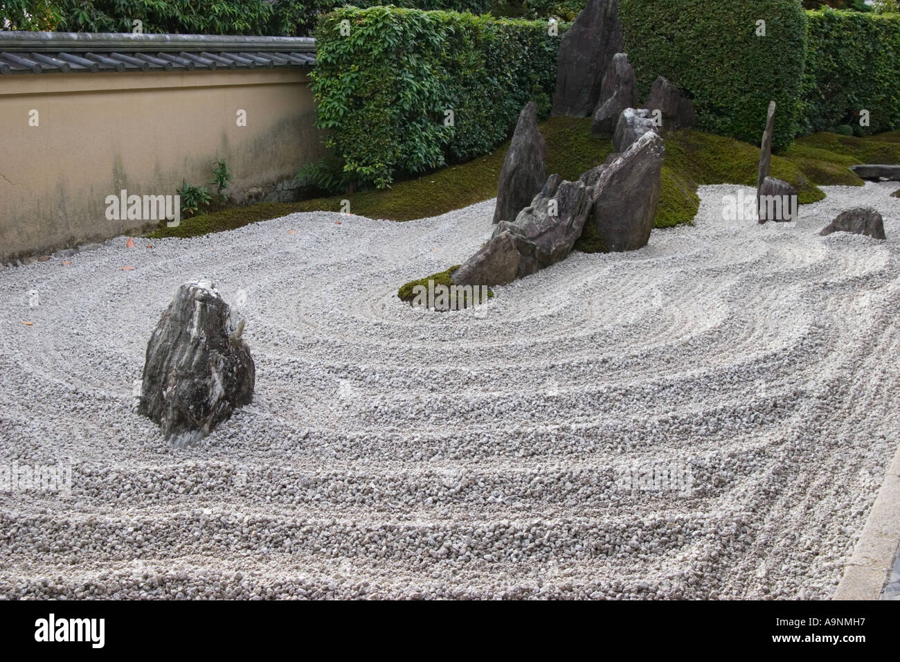 The Zen Rock Garden At Zuiho In Which Is A Subtemple Of Daitokuji Temple In  Kyoto