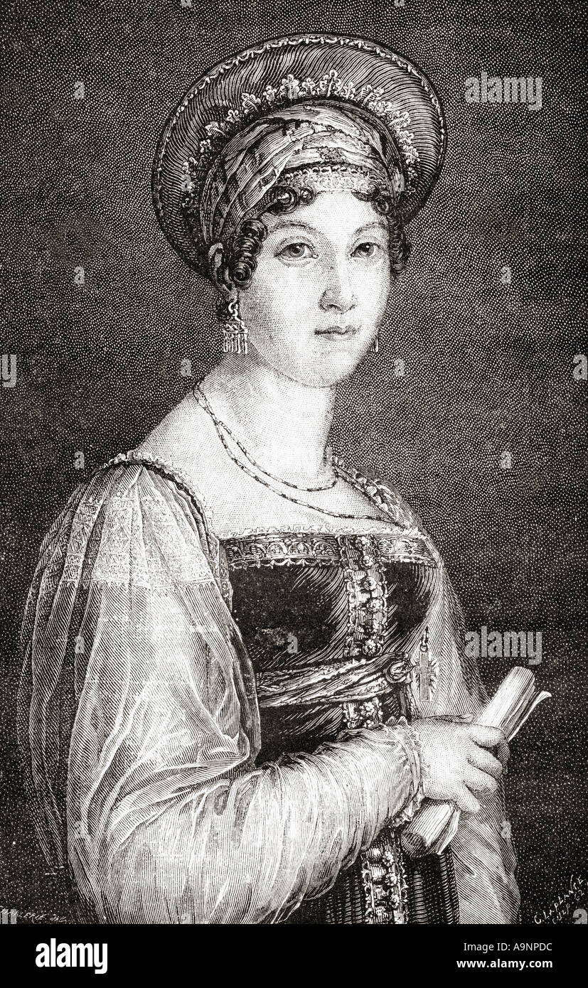 Mademoiselle Mars ( Anne Françoise Hippolyte Boutet ), 1779 -1847.  Actress at the Comédie Française - Stock Image