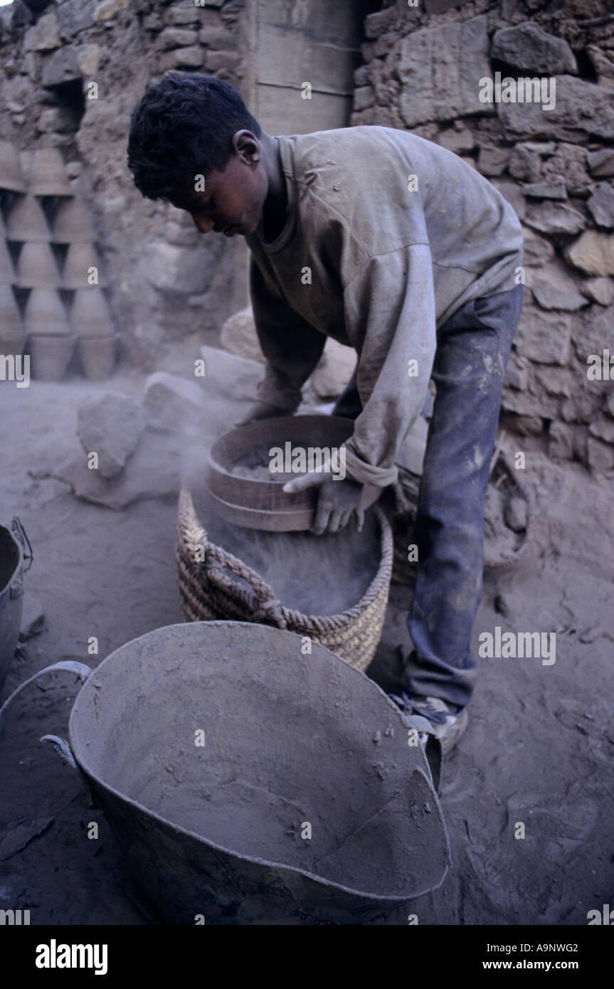 Child labour Cairo Egypt - Stock Image