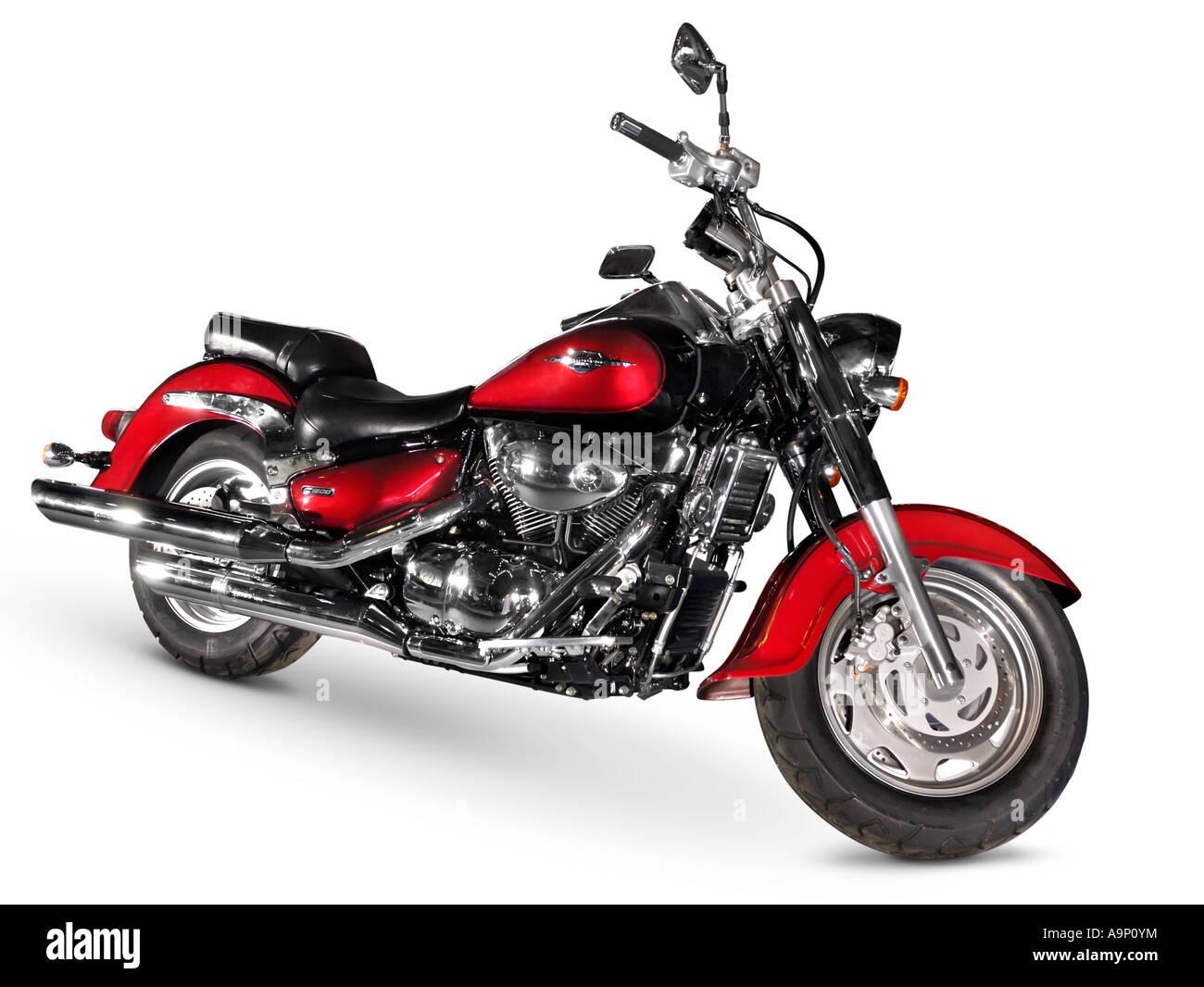 Red motorbike - Stock Image