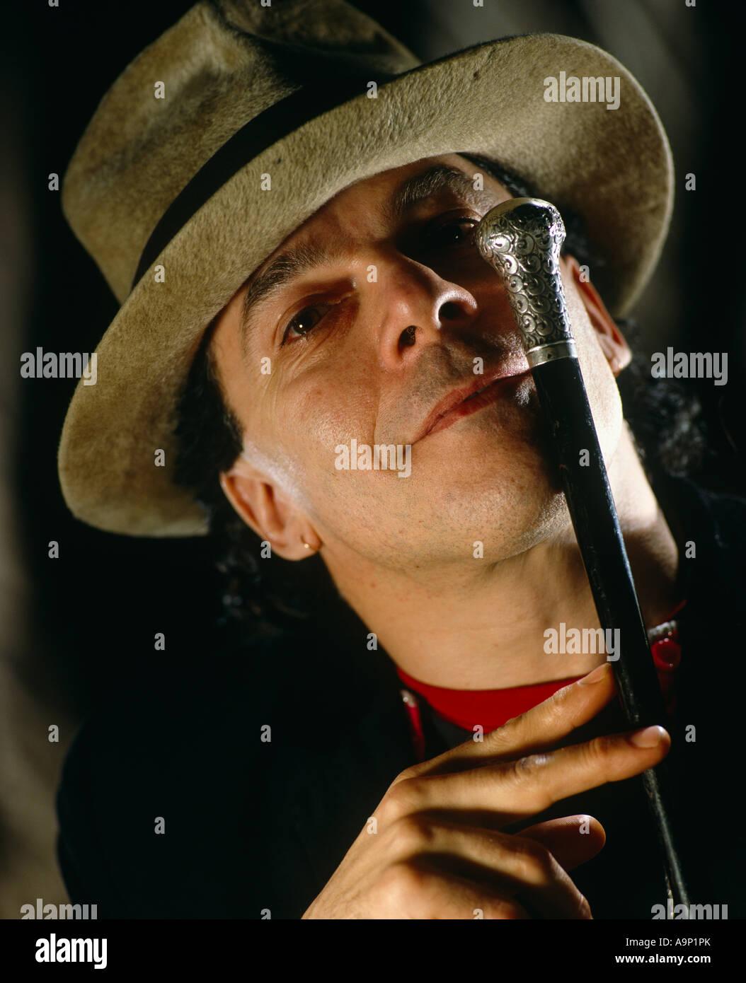 Ian Dury studio portrait Stock Photo