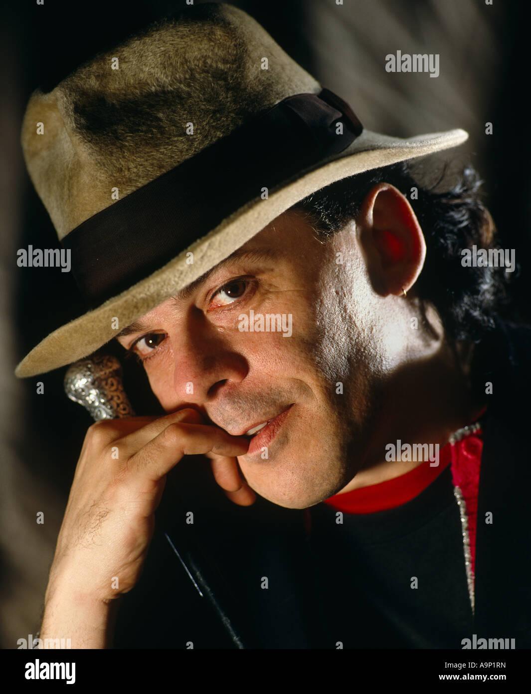 Ian Dury studio portrait head Stock Photo