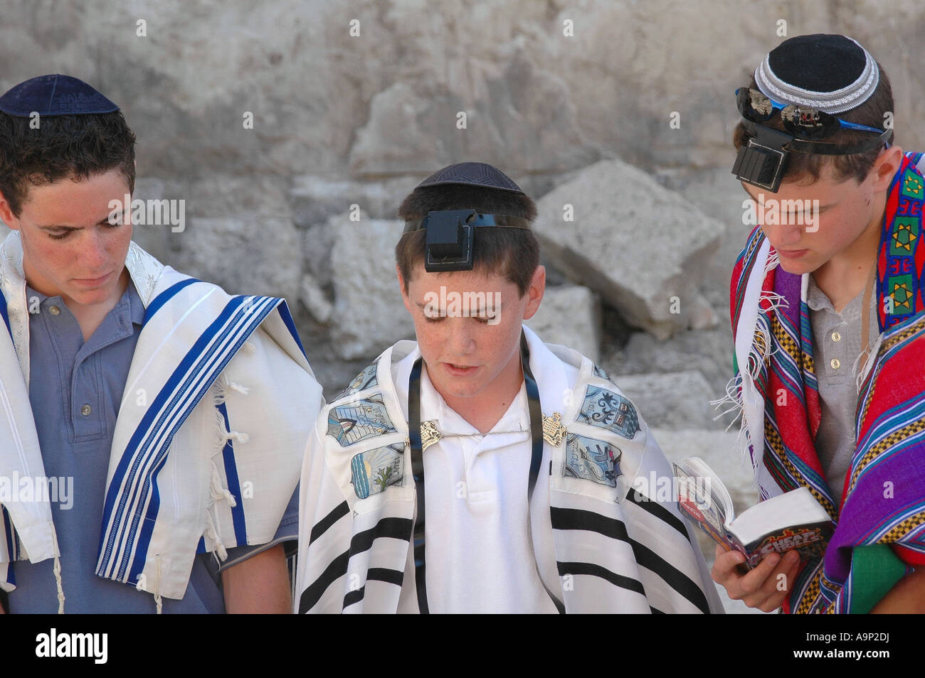 Bar Mitzvah at the Western Wall in Jerusalem Israel - Stock Image