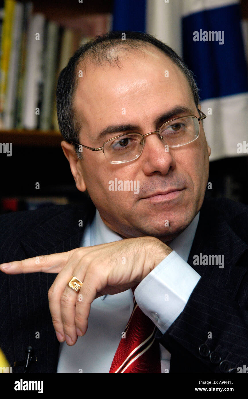 Israeli Foreign Minister Silvan Shalom - Stock Image