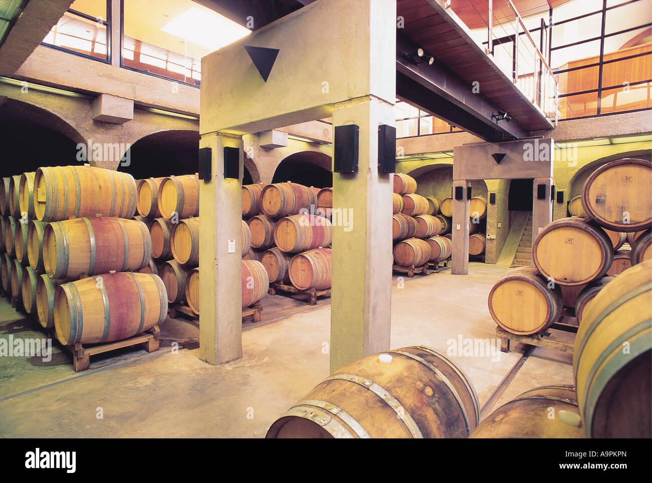 Wine Storage Containers Barrels Wooden Barrel Stock Photos Wine