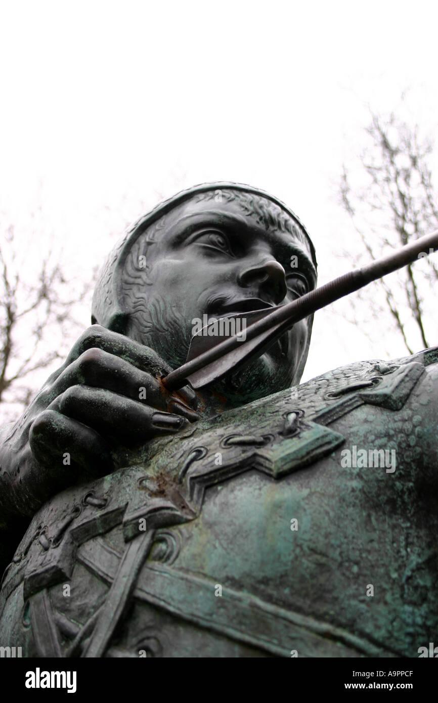 Robin Hood Statue Nottingham England - Stock Image