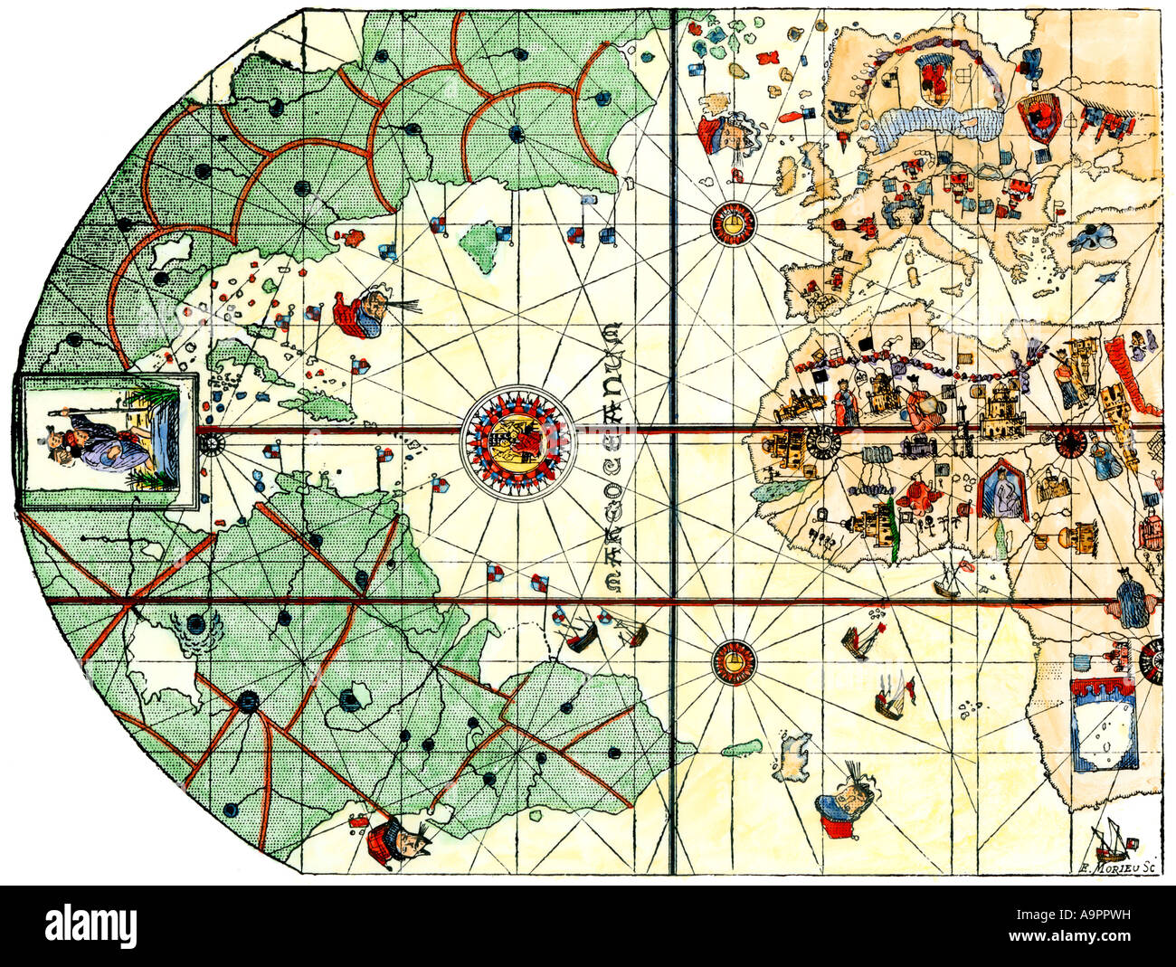 Map Of World 1500 Stock Photos & Map Of World 1500 Stock Images - Alamy