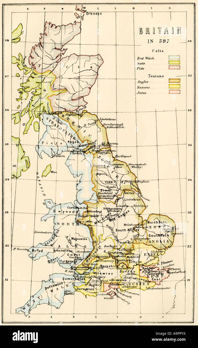 Celts Map on
