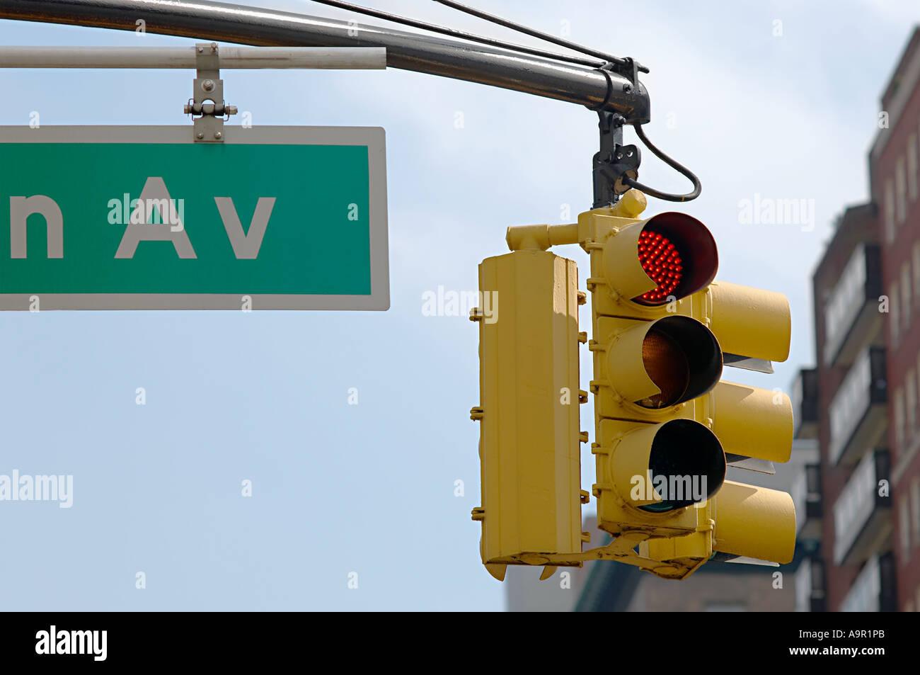 New york traffic lights - Stock Image