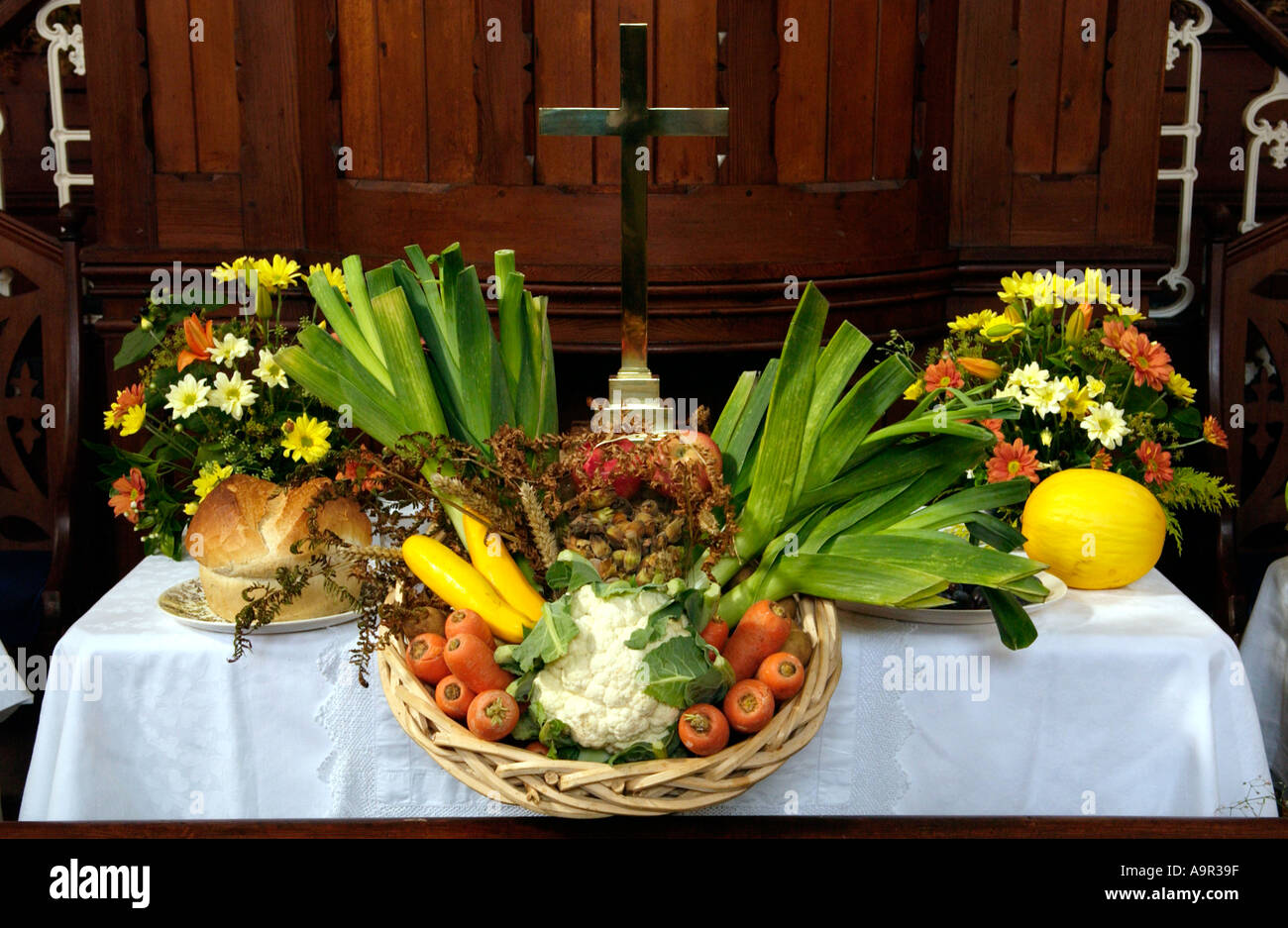 Harvest Festival Display Church High Resolution Stock Photography And Images Alamy