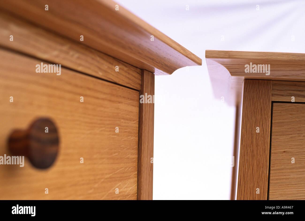 Hand Made Light Oak Furniture Cabinets Still Life - Stock Image