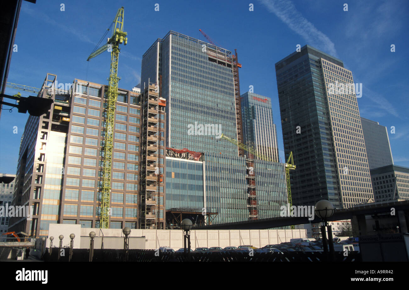 Construction work Canary Wharf South london - Stock Image