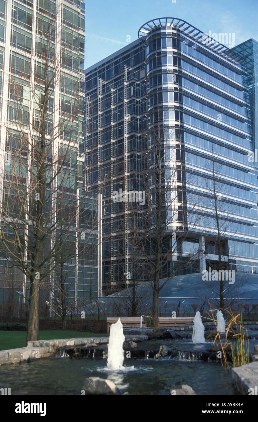 Jubiliee Park Canary Wharf London - Stock Image
