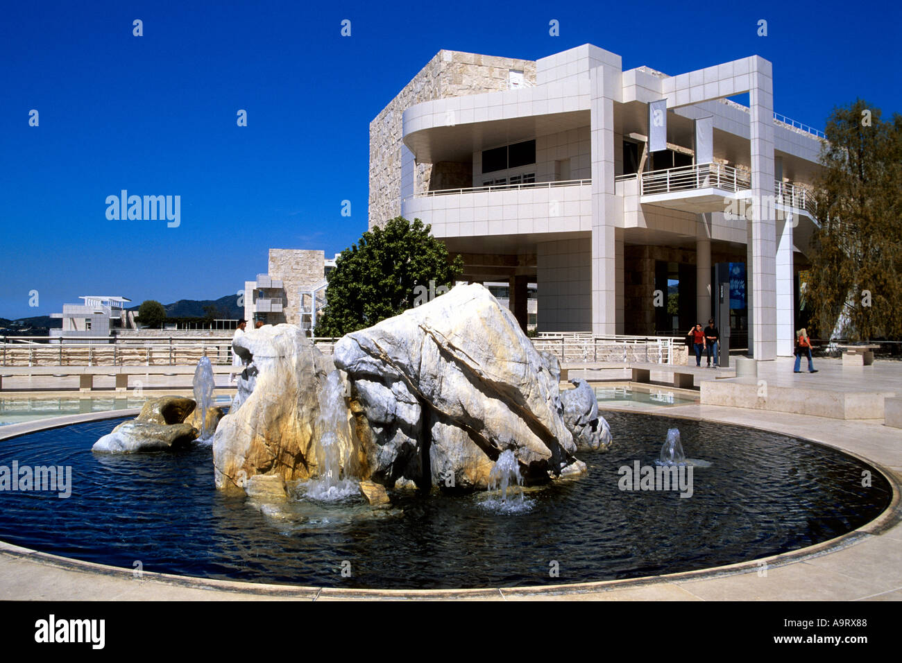 THE GETTY CENTER LOS ANGELES CALIFORNIA - Stock Image