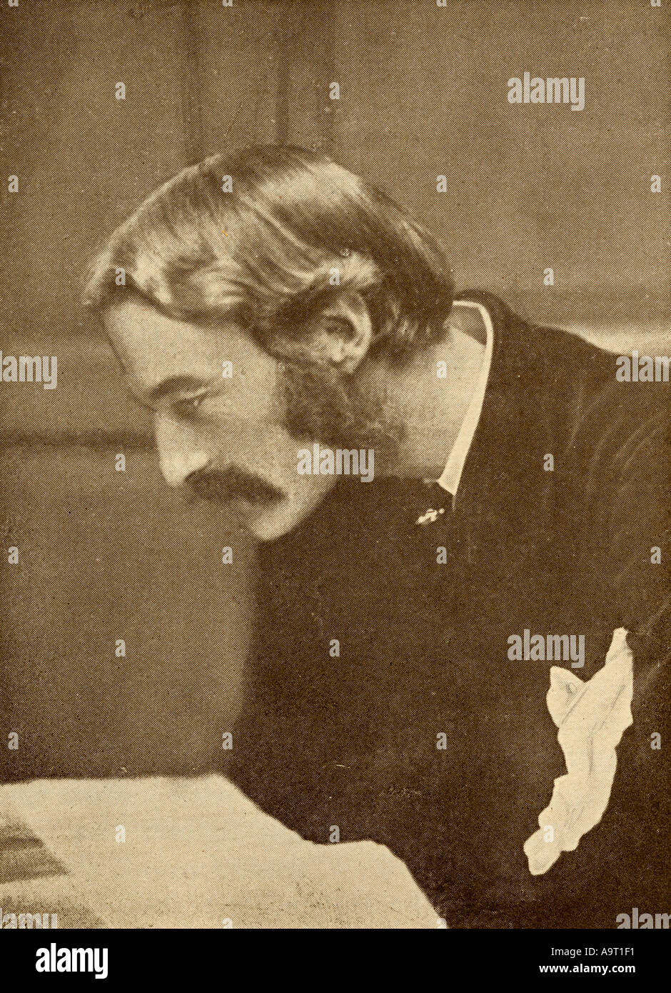 Andrew Lang, 1844 -1912. Scottish poet, novelist, literary critic, and contributor to the field of anthropology. - Stock Image
