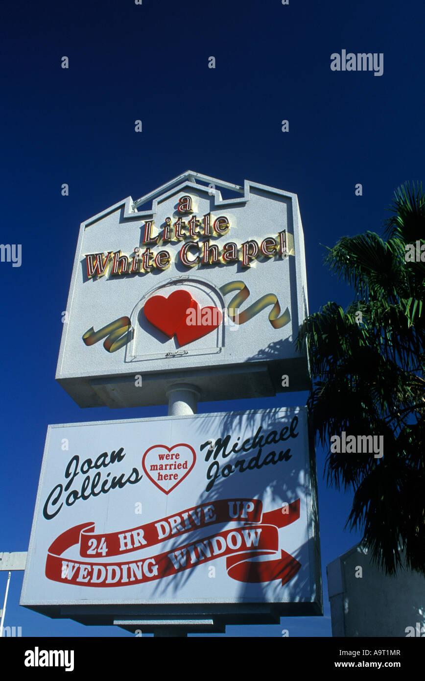 Little White Chapel Drive Through Wedding Chapel Sign Las Vegas