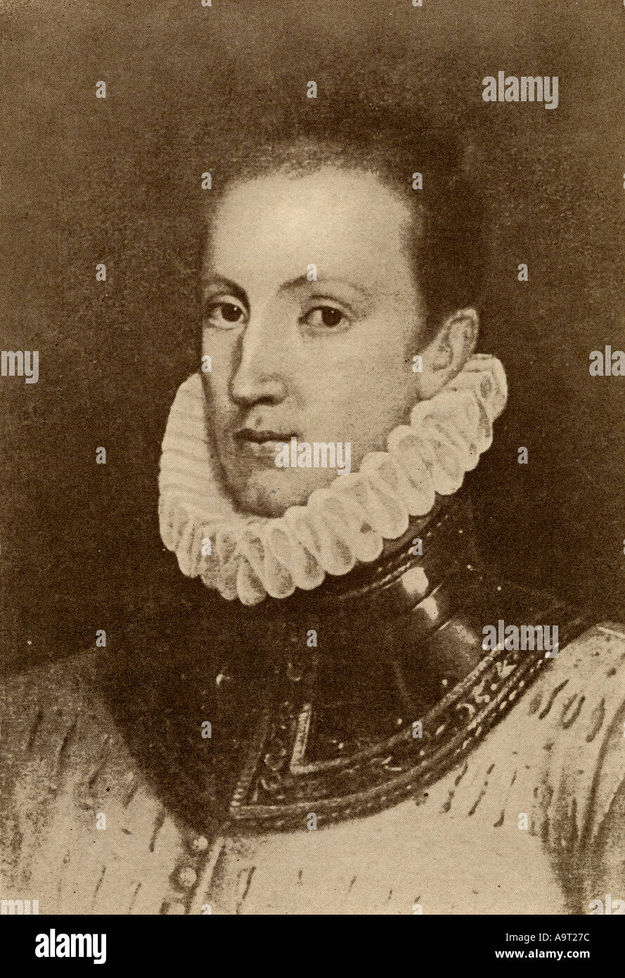 Sir Philip Sidney, 1554 -1586. English poet, courtier, scholar, and soldier. - Stock Image
