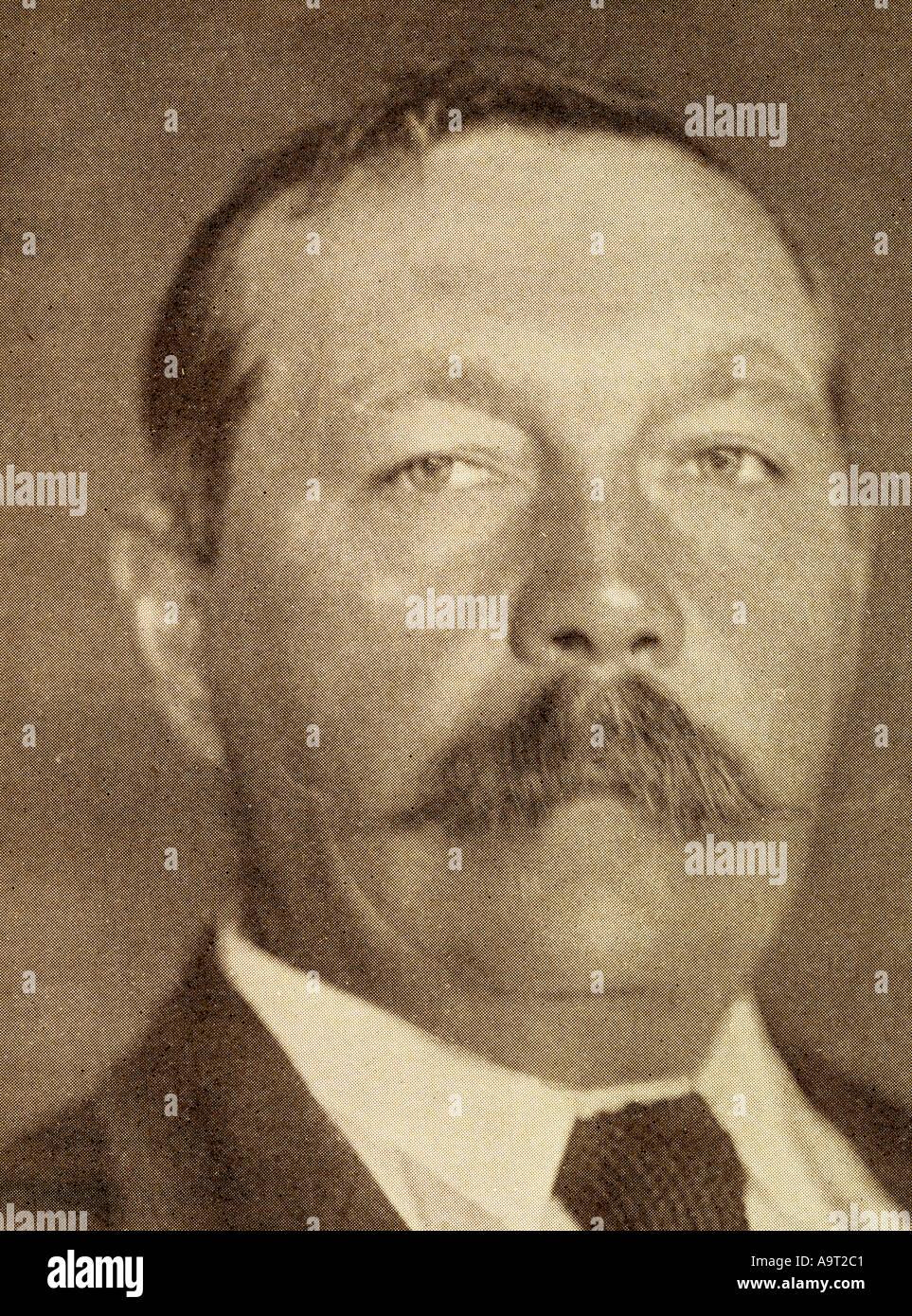 Sir Arthur Conan Doyle, 1859 - 1930.  British writer and doctor. - Stock Image