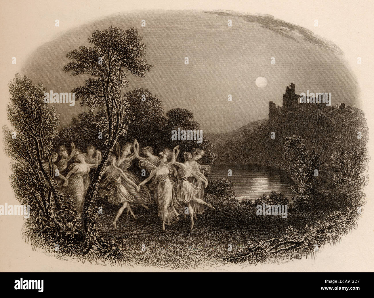 The dance of the fairies - Stock Image