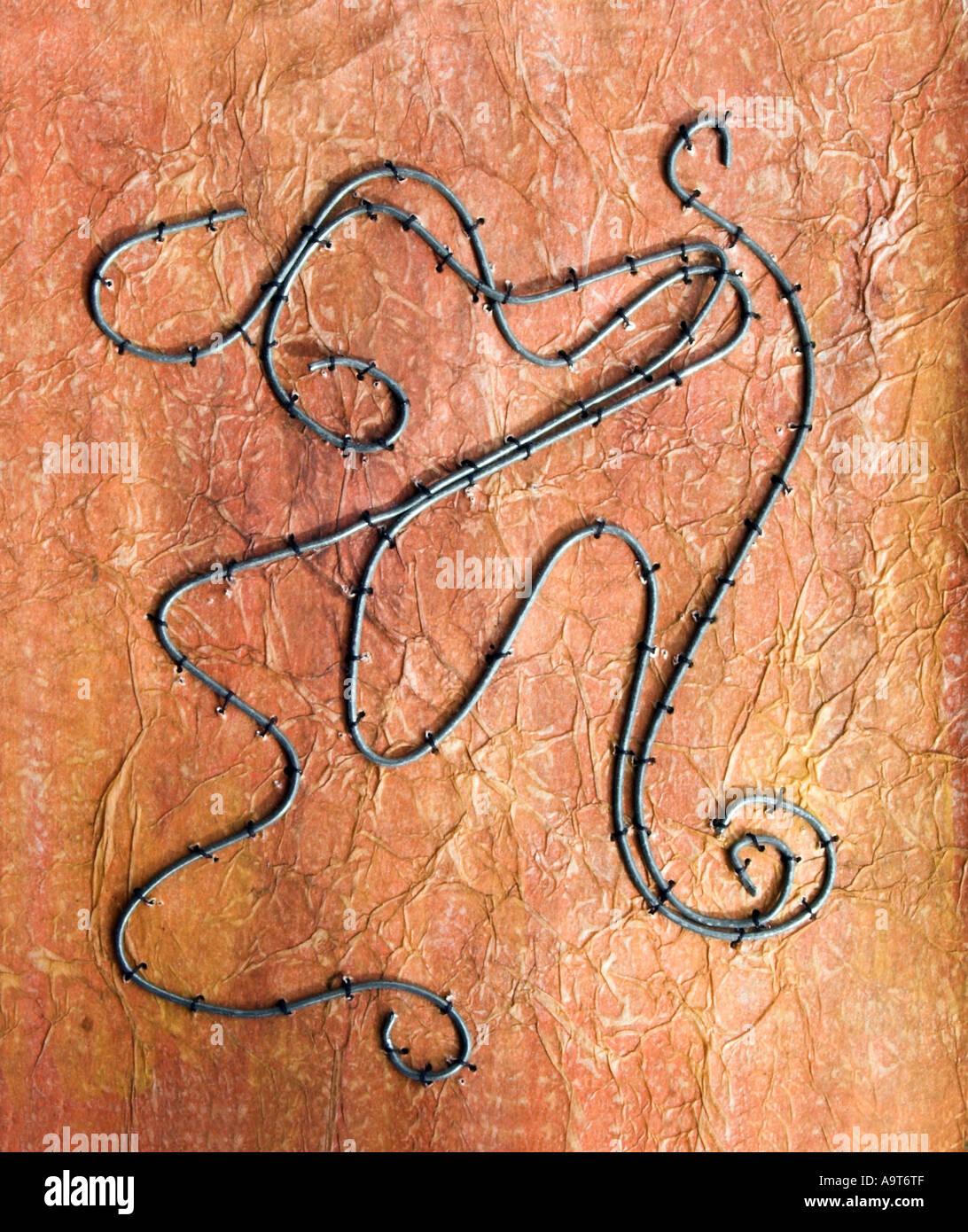 embroidery art needleowrk - Stock Image