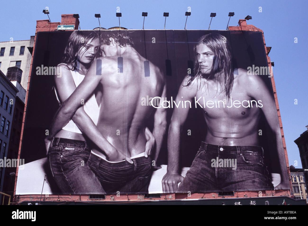 calvin klein billboard new york city stock photo 2313193 alamy