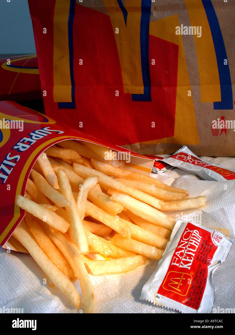 A Portion Of Mcdonald S Super Size Fries Stock Photo 2313387 Alamy