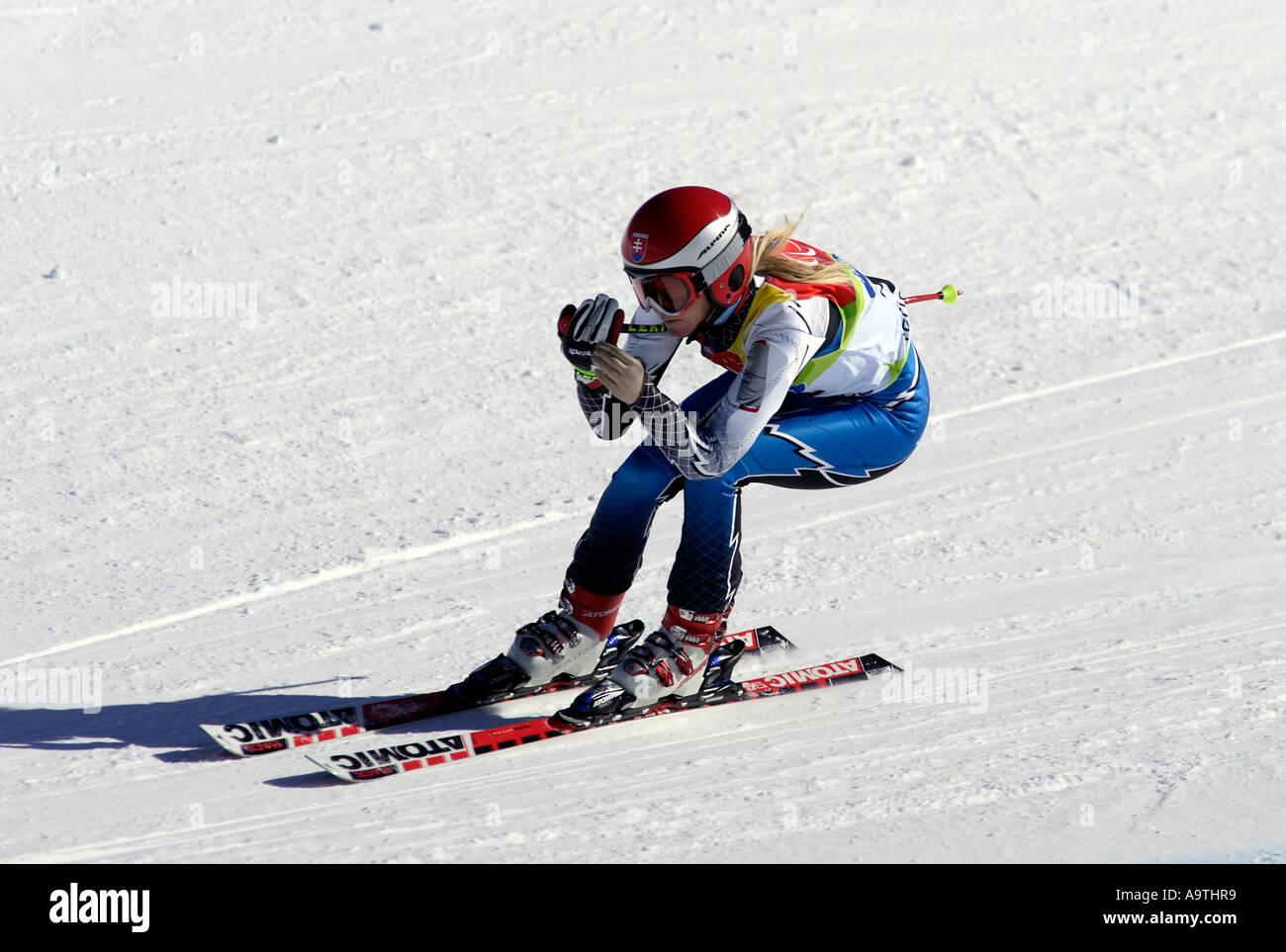 Iveta Chlebakova LW6/8-2 of Slovakia in the Womens Alpine Skiing Super G competition - Stock Image