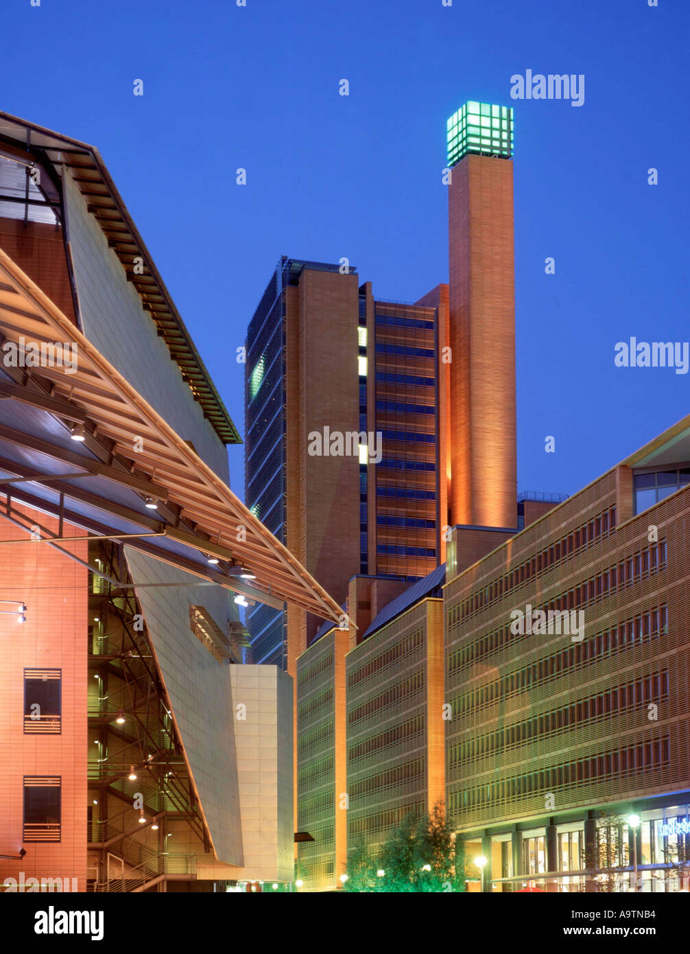 Berlin Mitte Potsdamer Platz Daimer Chrysler Areal modern architekture by Renzo Piano Debis Stock Photo