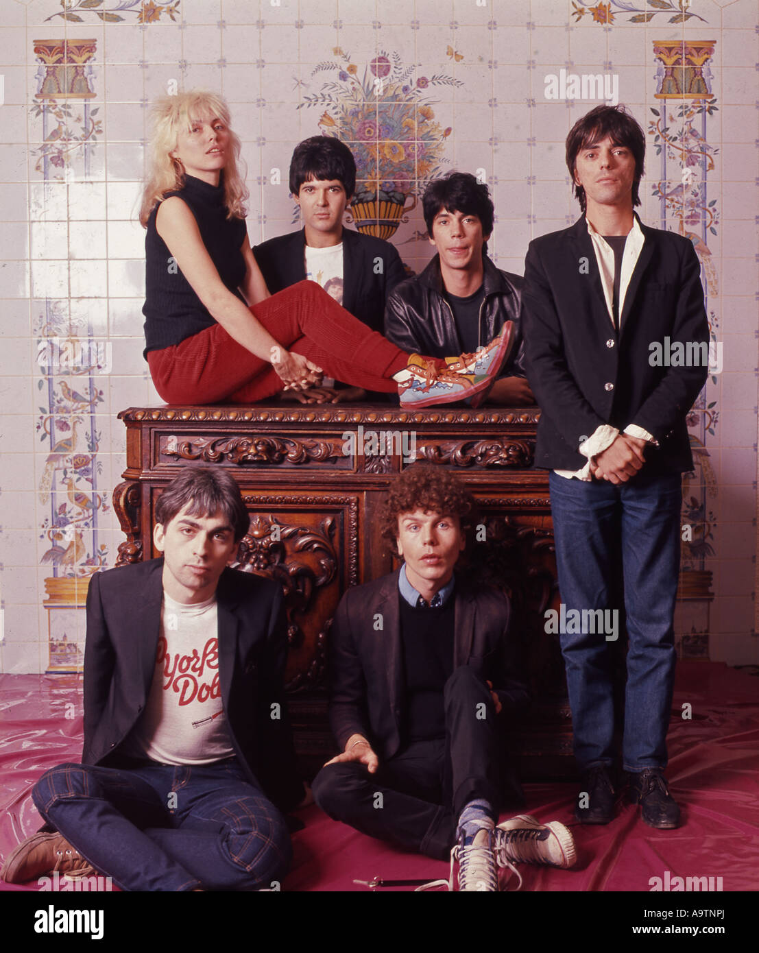 blondie us group with debbie harry about 1977