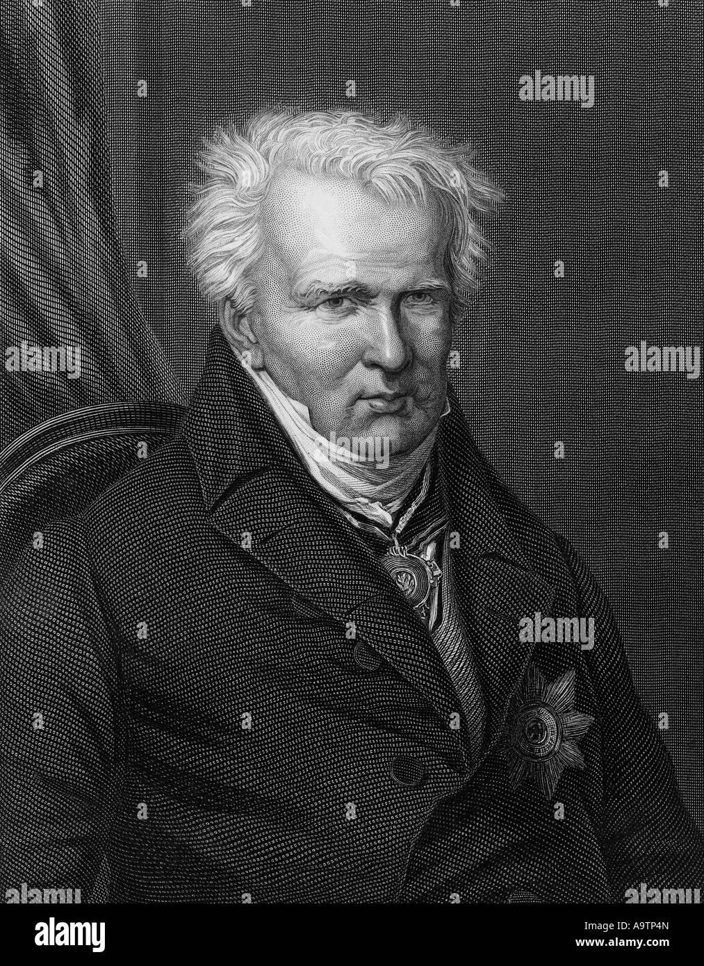 ALEXANDER VON HUMBOLDT  (1769-1859) German naturalist and explorer - Stock Image
