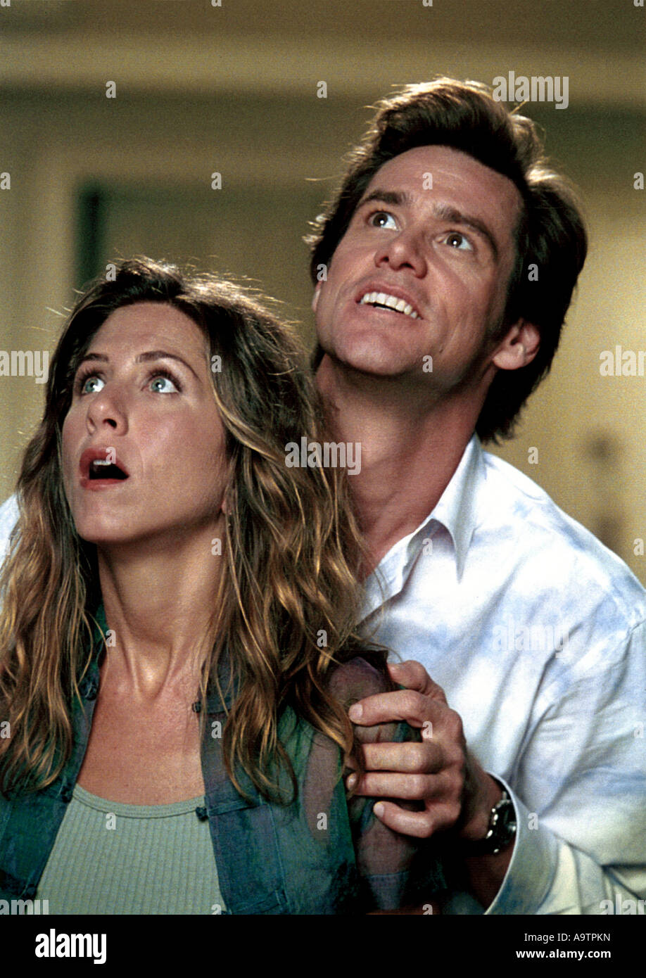 BRUCE ALMIGHTY - 2003 Universal film with Jennifer Aniston and Jim Carrey - Stock Image