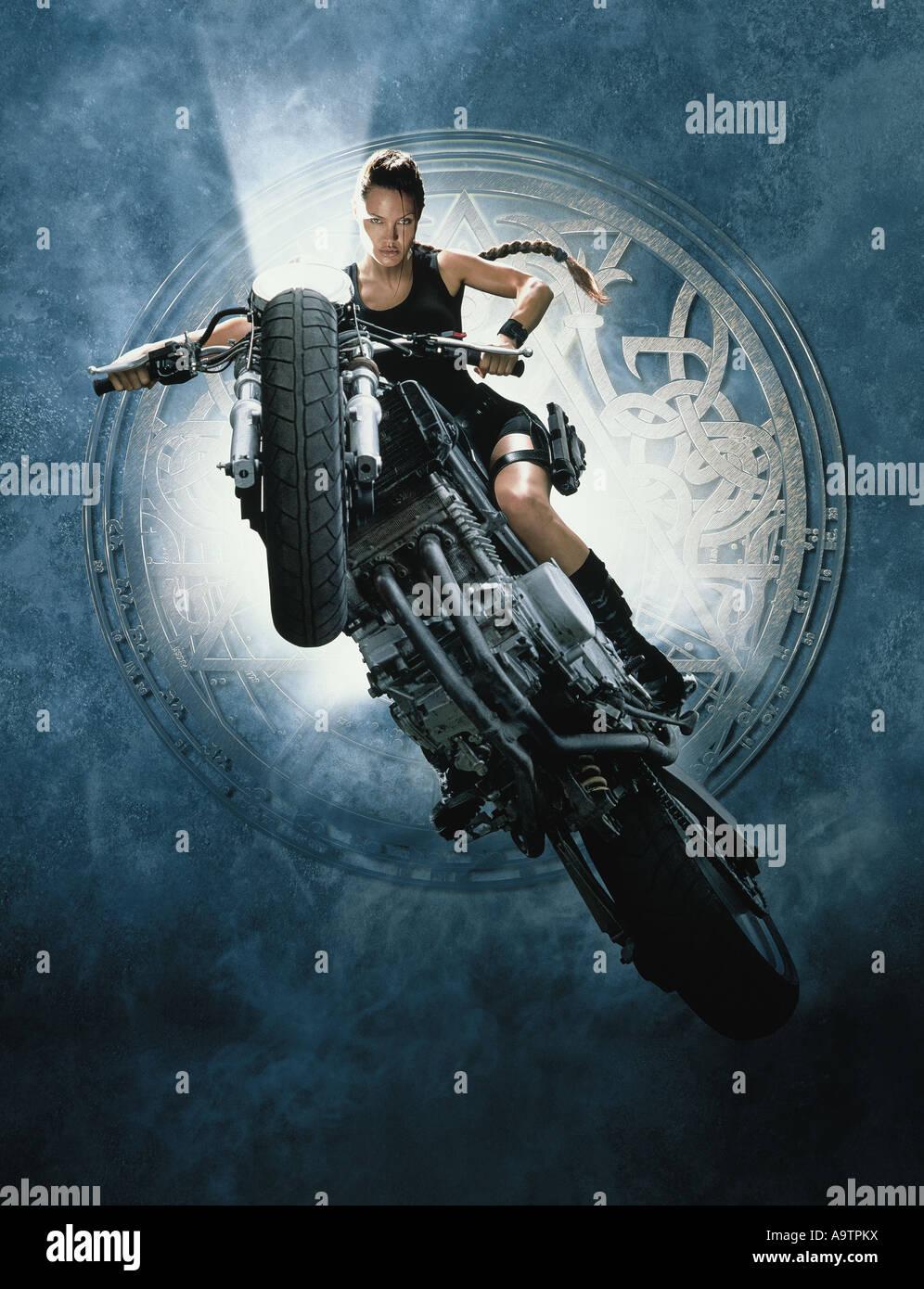LARA CROFT : TOMB RAIDER - 2001 Paramount film with Angelina Jolie as Lara Croft - Stock Image