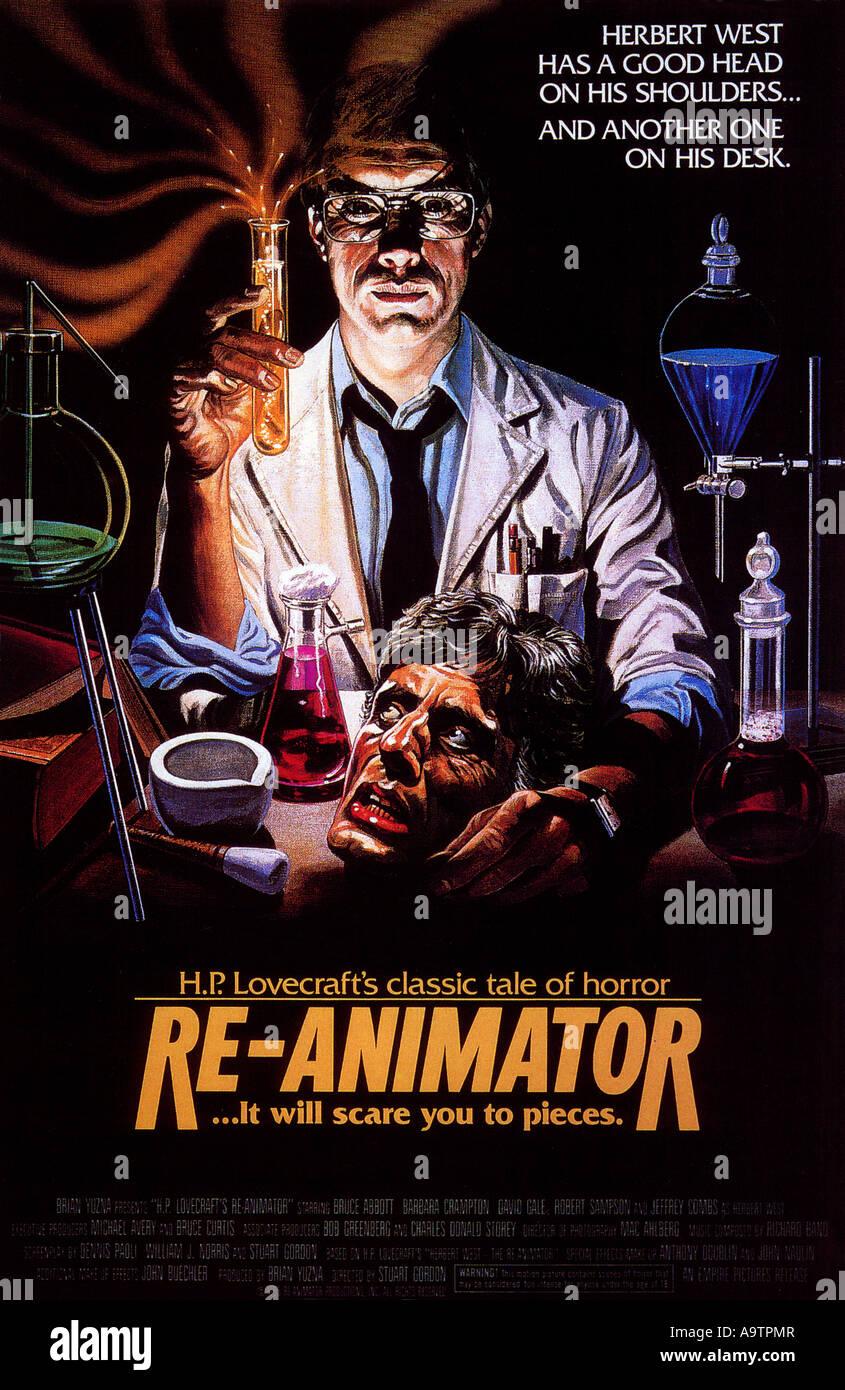 RE-ANIMATOR - poster for 1985 Entertainment/Empire International horror film - Stock Image
