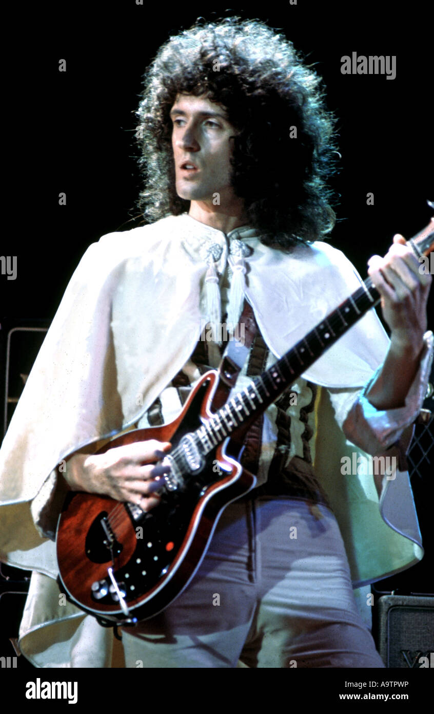 QUEEN - UK group with Brian May in 1976 Stock Photo