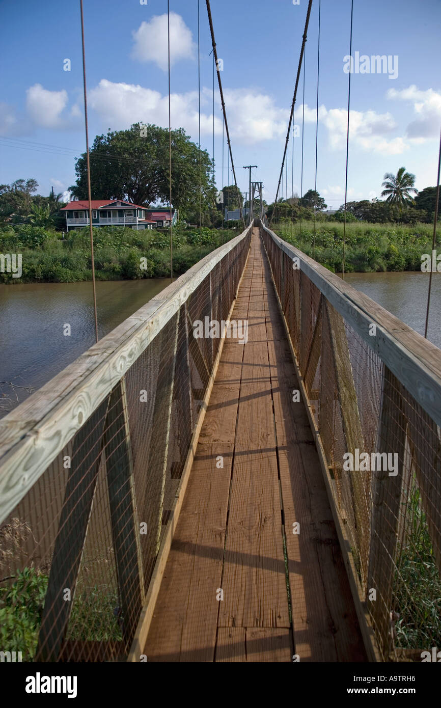 Swinging Bridge Hanapepe Kauai Hawaii Stock Photo 7107925
