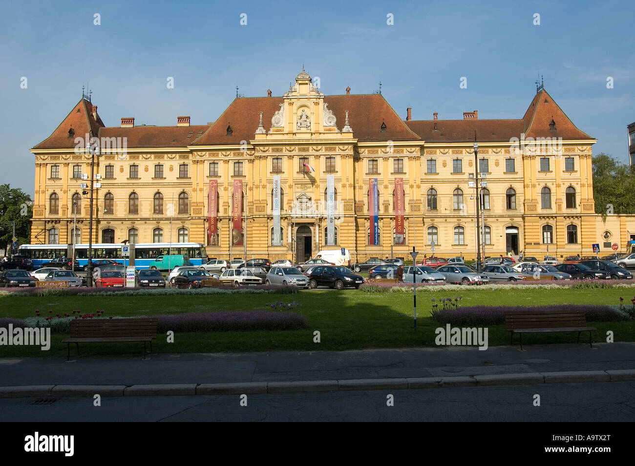 Arts and Crafts museum, Marshal Tito Square Zagreb, Croatia - Stock Image