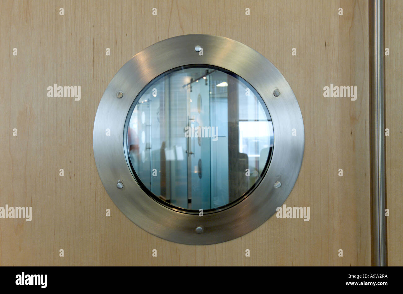 Beau Porthole Window In Office Door