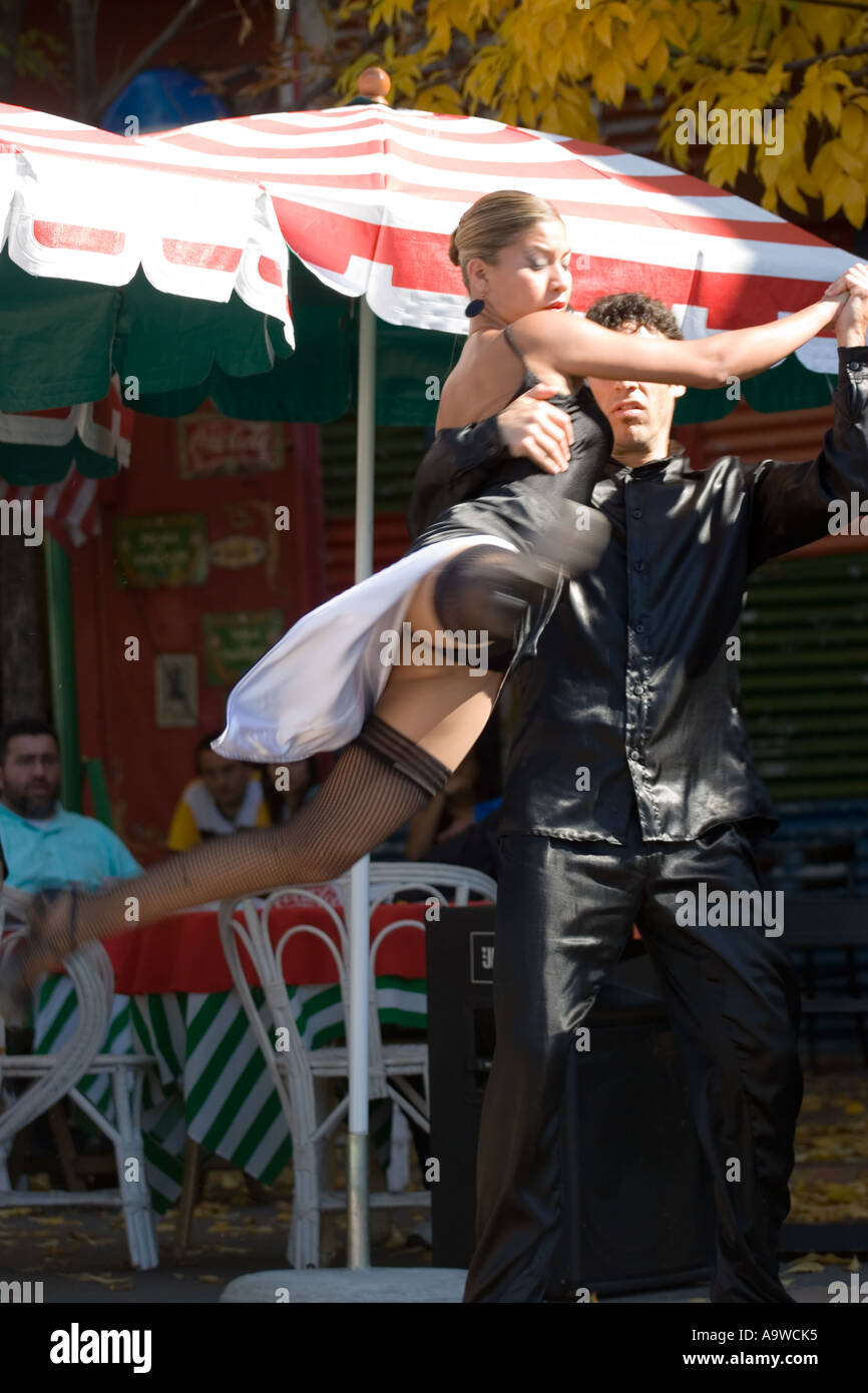 Professional tango dancers in Buenos Aires D Stock Photo