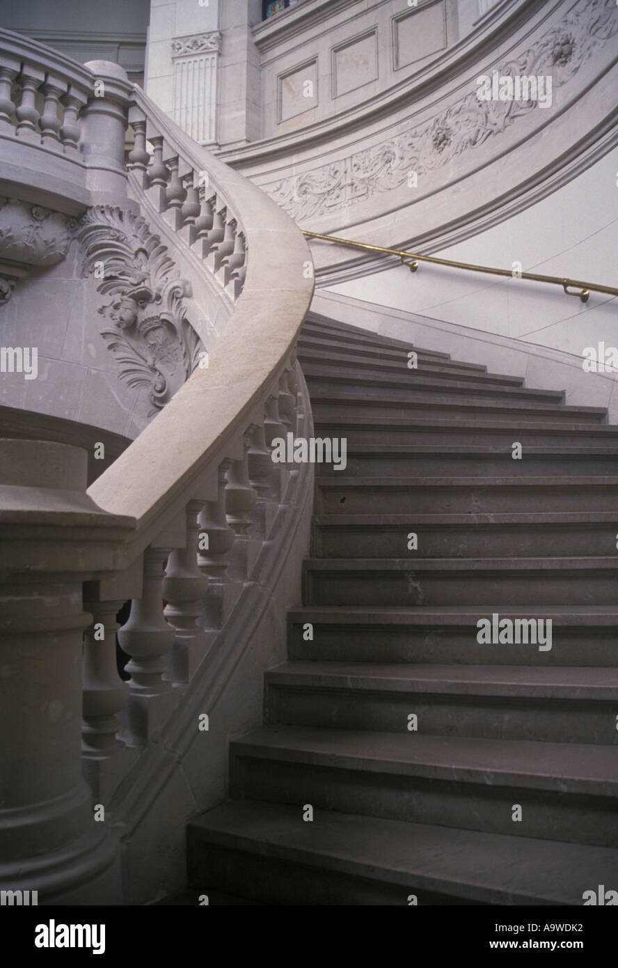Staircase in Palais des Beaux Arts Lille Nord France Stock Photo