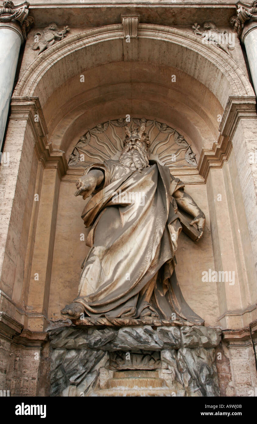 The Fontana dell Acqua Felice in Rome Italy - Stock Image
