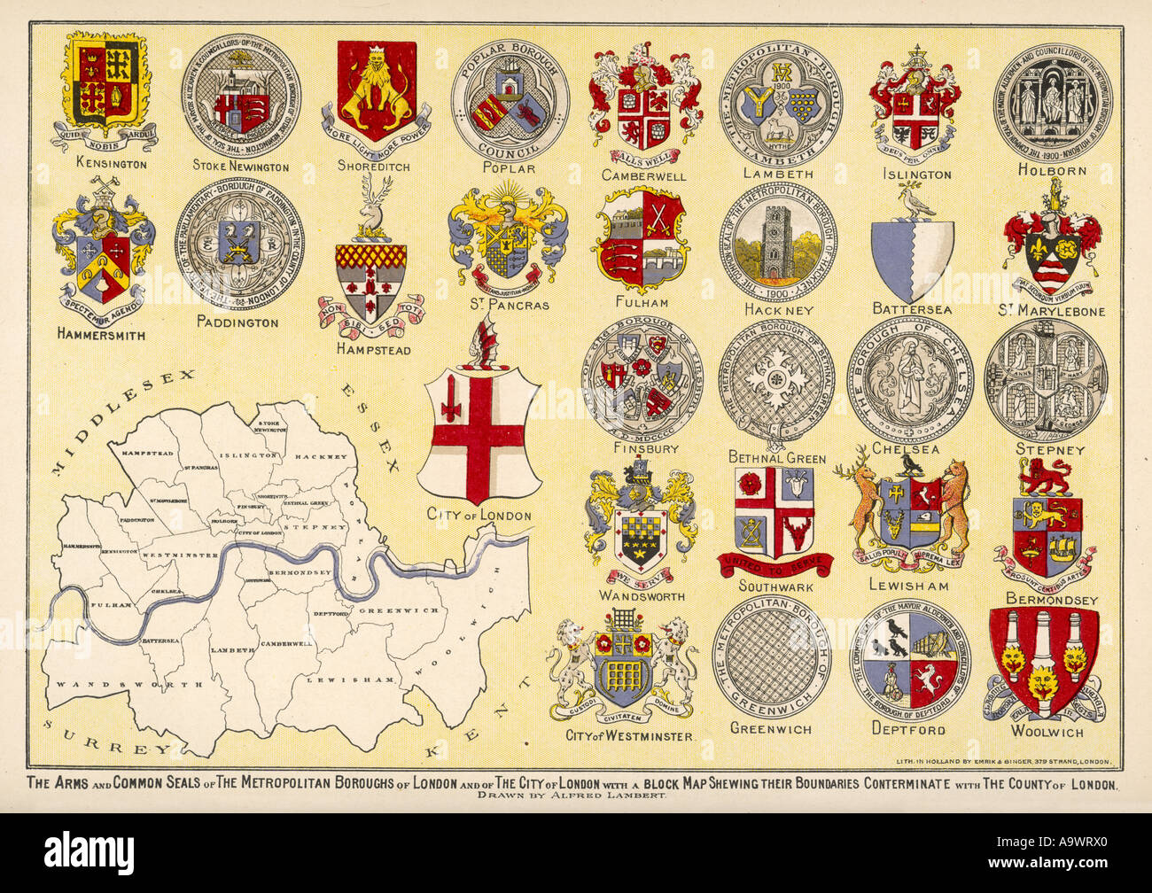 London Arms Seals - Stock Image