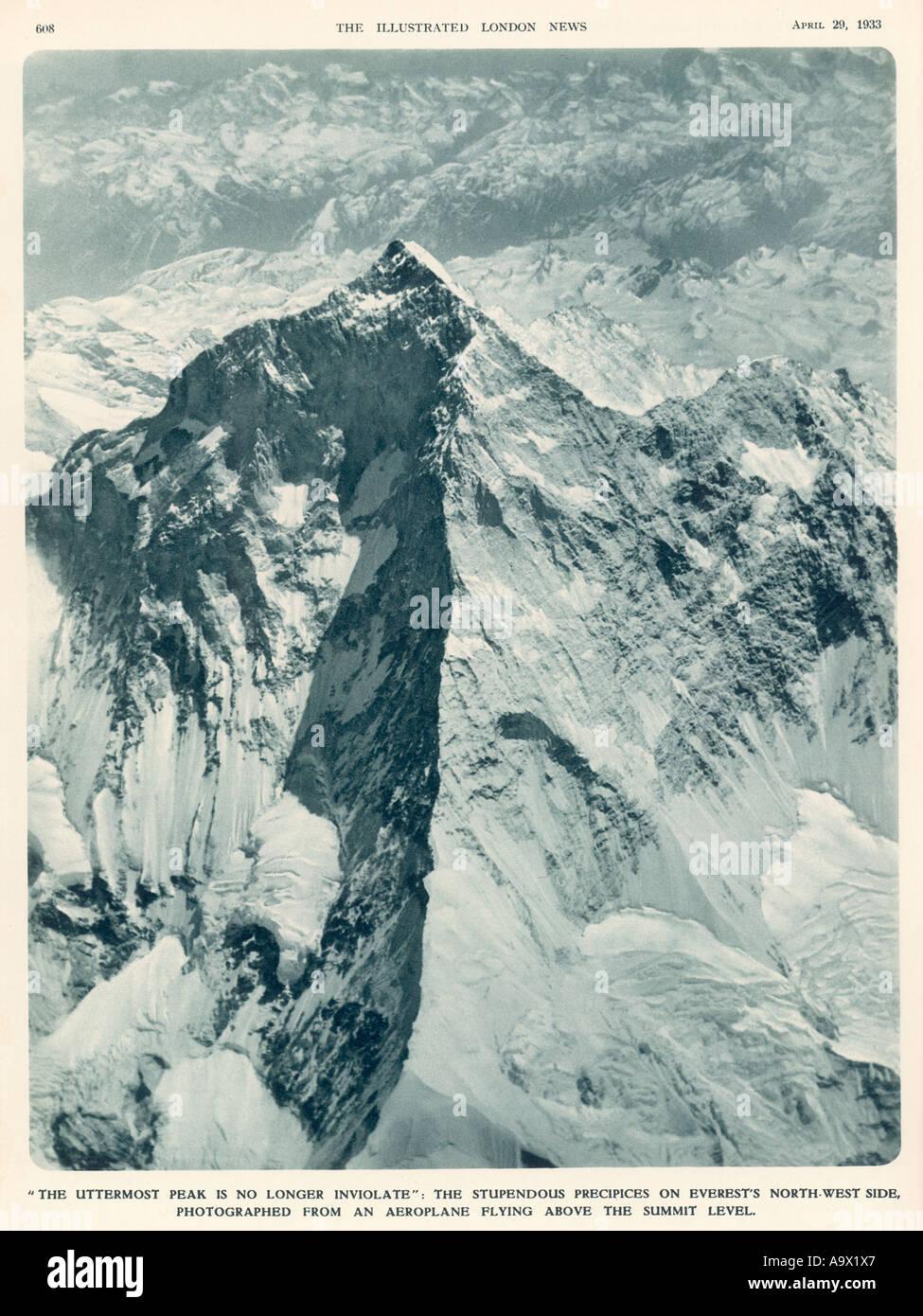 Nepal Everest April 1933 - Stock Image