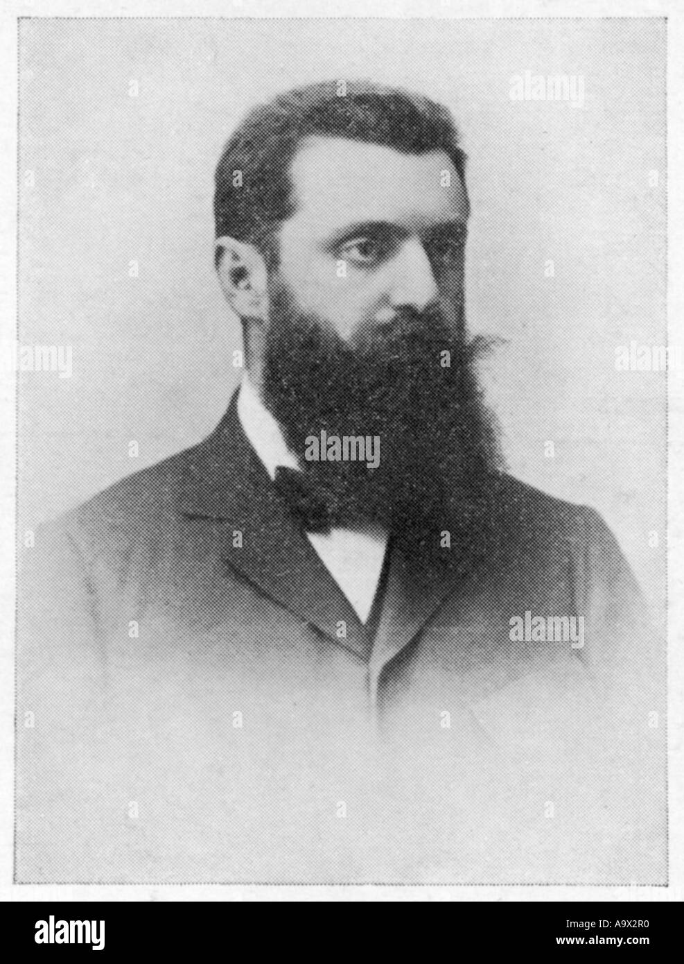 Theodor Herzl Postcard - Stock Image