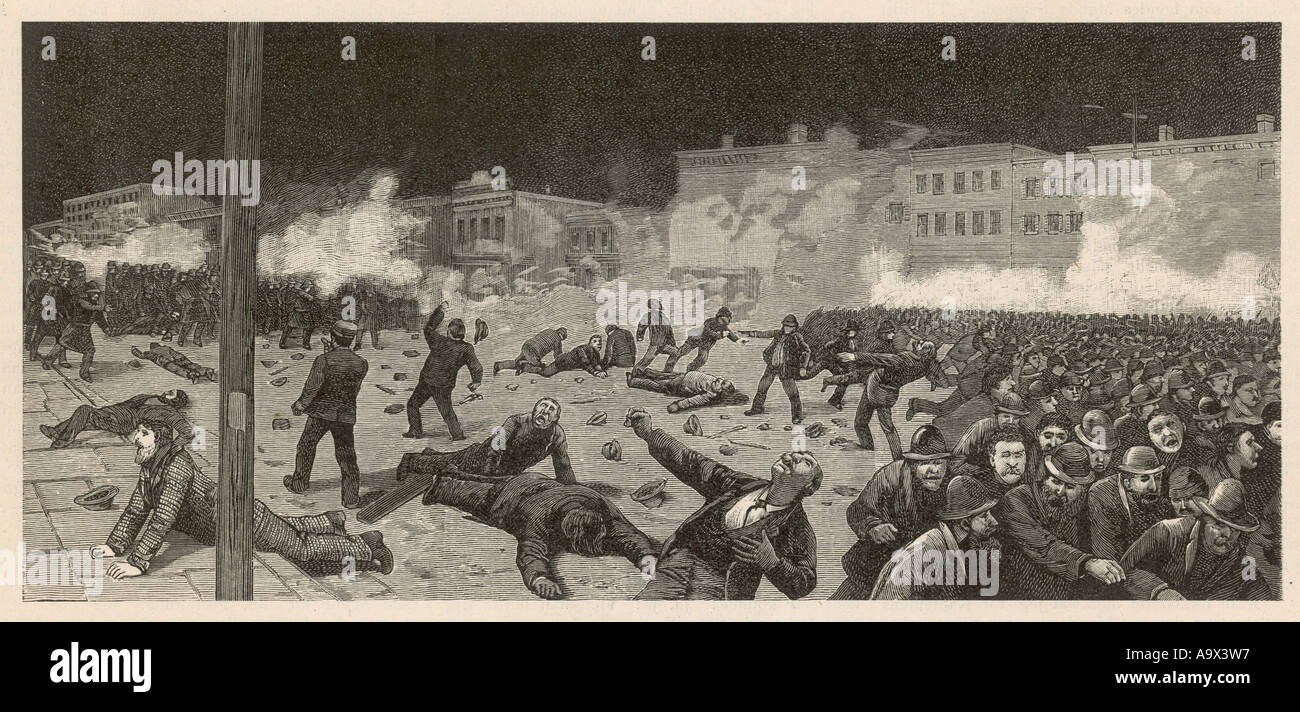 Chicago Riots - Stock Image