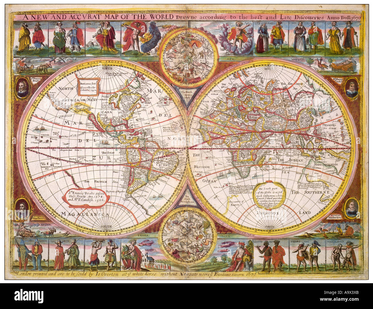 First Accurate Map Of The World.A New Accurate Map The World Drawn Stock Photos A New Accurate Map