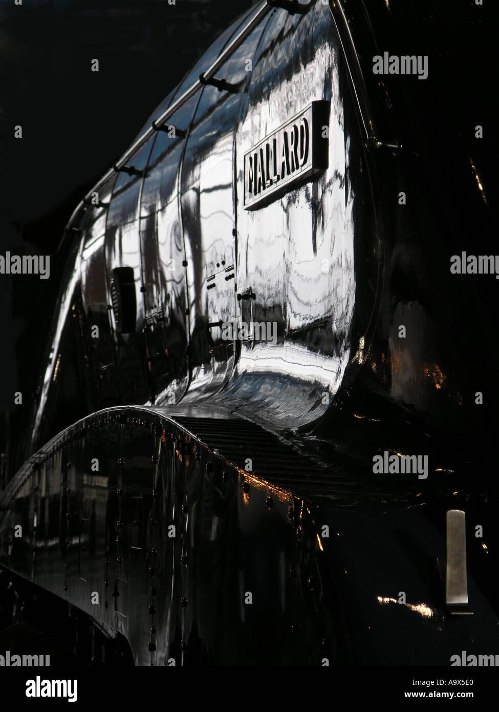 Mallard locomotive steam train - Stock Image