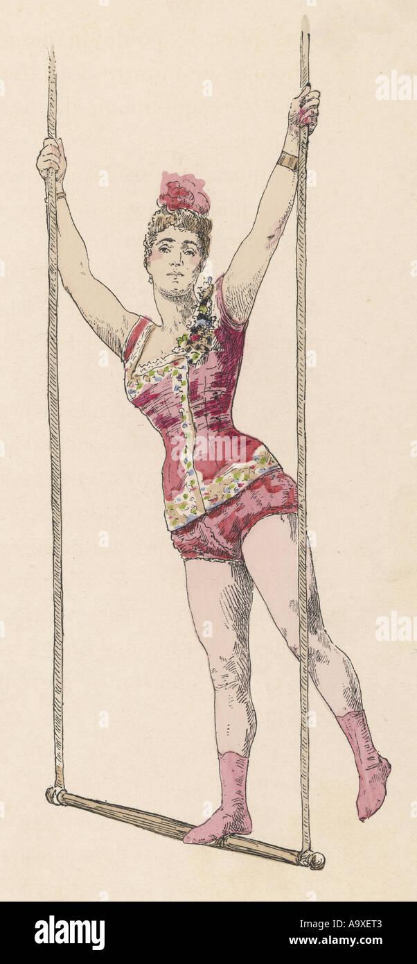 Trapeze Artiste J De C - Stock Image